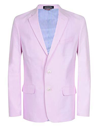 (Tommy Hilfiger Boys' Big Oxford Blazer Jacket, Pastel Pink 20)