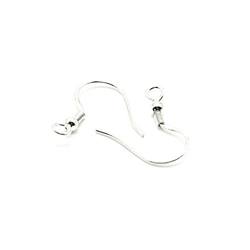 Sterling Silver Ear Wire Fish Hooks for Silver Making (Pack: 10 pairs) - Star Shape Wire Earrings