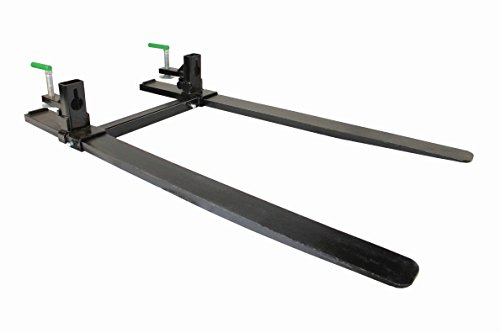 Forged Clamp on Pallet Forks for Skid steer Tractor Loader Bucket (COF-HD-SB) ()