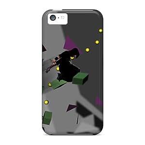 DaMMeke Iphone 5c Hybrid Tpu Case Cover Silicon Bumper Geometric Leap