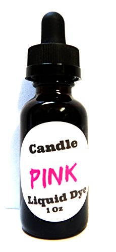 Liquid Candle Dye (Pink) - 1oz Amber Glass Dropper Bottle with Childproof Lid Premium Dye for All Waxes Exp Soy Wax