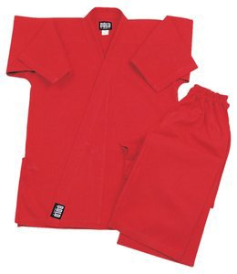 Middleweight 7.5 oz Traditional Karate Uniform - Red Size 2