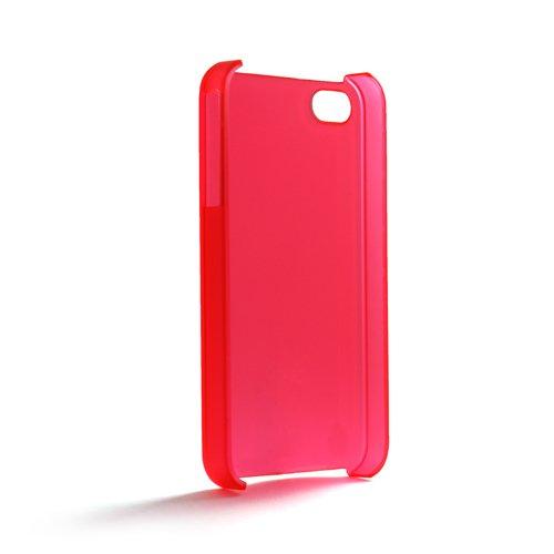System-s coque crystal case étui de protection pour apple iPhone 4–rouge