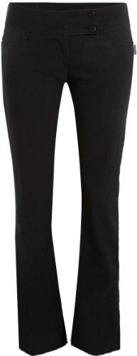 PaperMoon Women's Black Stretch Hipster Pants - Skinny Leg 2 Button - Size US 6 (UK 10) Inside Leg 31''