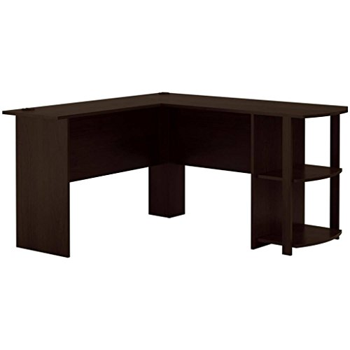- L-Shaped Desk with Side Storage, Multiple Finishes