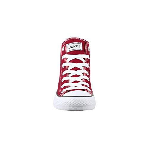 Deporte High Top Bordorot de de Tejido Sneakers Zapatos nbsp;Zapatos Loisirs nbsp;– nbsp;Unisex nbsp;– Elara yF4RBB