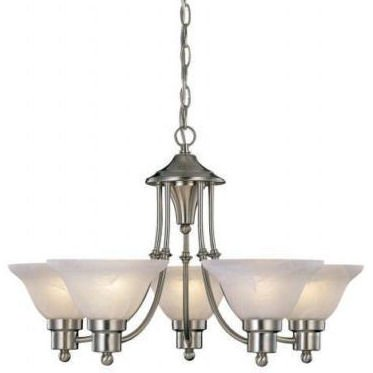 Hardware House 54-4452 5 Light Bristol Large Chandelier, Bru