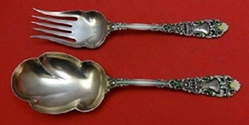 - Renaissance By Dominick and Haff Sterling Salad Serving Set GW Enameled 2pc