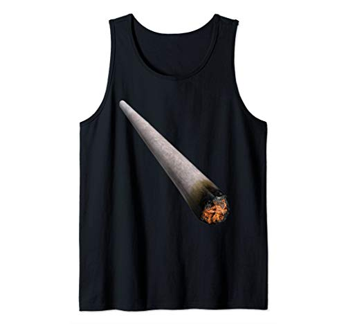 Lazy Halloween Costume Funny Weed Stoner Pretend I'm A Joint Tank -