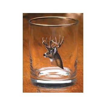 Whitetail Deer Portrait Stein Glasses by Michael Sieve