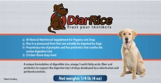 DiarRice Probiotic for Dog Diarrhea, Bloating, Gas, and Stomach Discomfort (4 oz)
