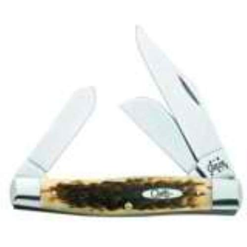 - Case Large Amber Bone CV Stockman Pocket Knife