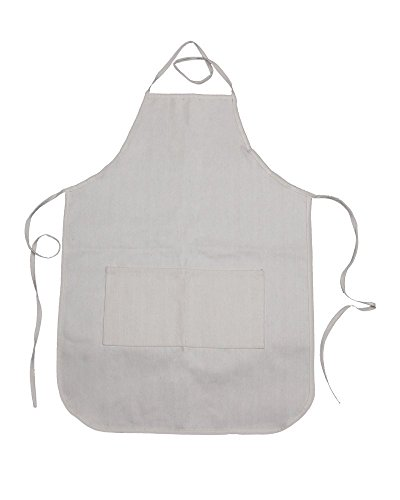 """Canvas Adult Apron with Pocket (6 Pack) White 20""""x28"""" 100..."""