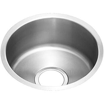 Elkay Lustertone ELUH12FB Single Bowl Undermount Stainless Steel Kitchen  Sink