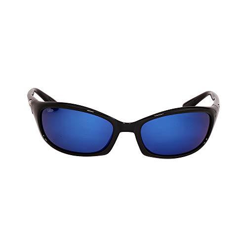 Costa Del Mar Harpoon Sunglasses, Black, Blue Mirror 580 Plastic Lens
