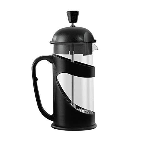 Cafetera de prensa francesa, prensa de café francesa con triple filtro émbolo de acero inoxidable y vidrio resistente al…