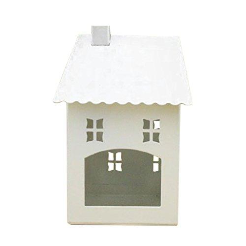 Jili Online Christmas Metal Decorative Tealight Candle Holder House-shaped Lantern Home Ornamental Hanging Craft