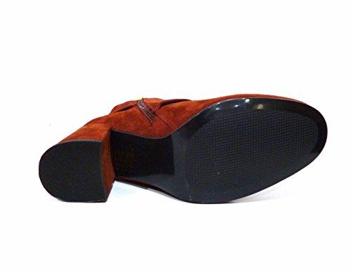 Bruno Premi N1902p Chaussures Femme Bottines Bottines Cheville Cheville En Daim Rouille Et Talon