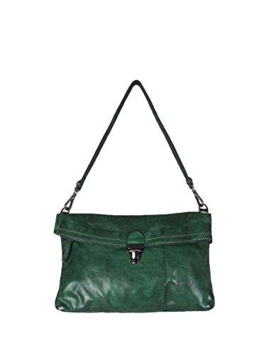 Campomaggi - Bolso cruzados de Piel para mujer Verde BOTTIGLIA 18x28x4 cm