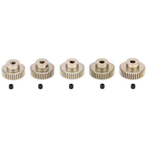 Gear 38t (TOOGOO(R) 5pcs 64DP 3.175mm Pinion 36T 37T 38T 39T 40T Motor Gear Set for 1/10 RC Car Brushed Brushless Motor)