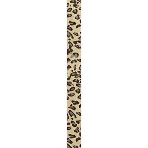 """Berwick 3802404 Offray Curl Leopard Ribbon, 3/8"""" W X 250 yd, Tan/Black"""