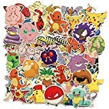 Pokemon Japanese Anime Stickers 80 Pcs, Laptop Stickers, Motorcycle Bicycle Luggage Decal Graffiti Patches for Teens (Stickers 80 Pcs)