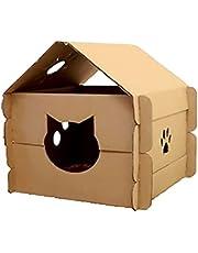 Casa De Papelão Para Gatos Toca De Gato Casinha Montável