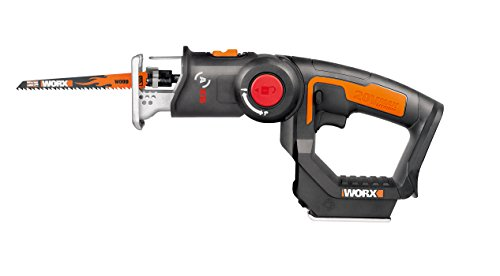 WORX WX550L.9 20V AXIS 2-in-1 Reciprocating Saw and Jigsaw with Orbital Mode, Variable Speed and Tool-Free Blade Change (TOOL ONLY) ()