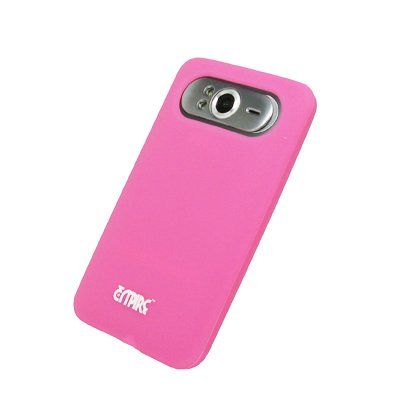 EMPIRE Pink Rosa Silicone Skin Cover Couverture Case Étui Coque + Voiture Chargeur (CLA) for HTC HD7