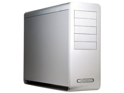 Silverstone Tek FT02S-USB3.0 Aluminum ATX Full Tower Uni-Body Frame Computer Case with 2X USB3.0 Front Ports with Window Side Panel Cases - Silver