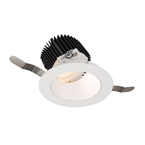 WAC Lighting R3ARAT-N840-WT Aether Round Adjustable Trim with LED Light Engine Narrow 25 Beam 4000K Cool White