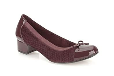 838f1cf1164f5 Image Unavailable. Image not available for. Colour: Womens Clarks Balcony  Poem Ox-Blood Smart Shoes