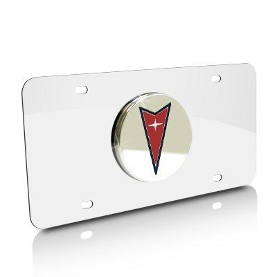 Pontiac Chrome Logo on Chrome License Plate