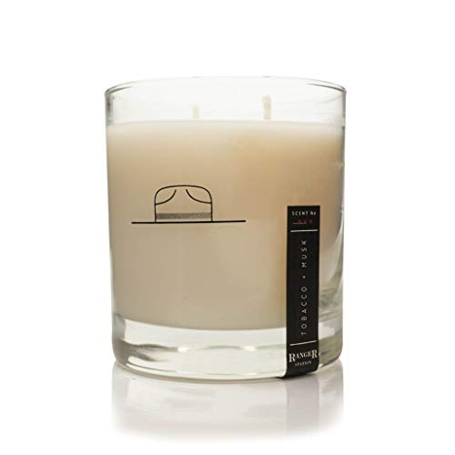 - Ranger Station Soy Based Wax Candle   Tobacco + Musk