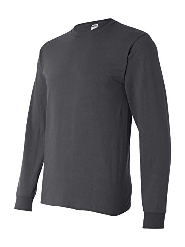 Jerzees Men's Heavyweight Blend 50/50 Long Sleeve T-Shirt (Charcoal Grey, Large)