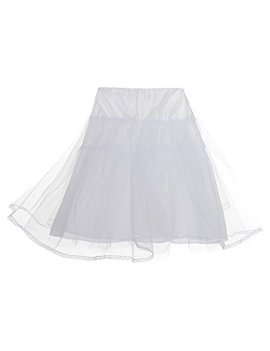 Remedios Crinoline Petticoat 3 Tiers Nylon & Gauza Wedding Underskirt Slip, one size White ()