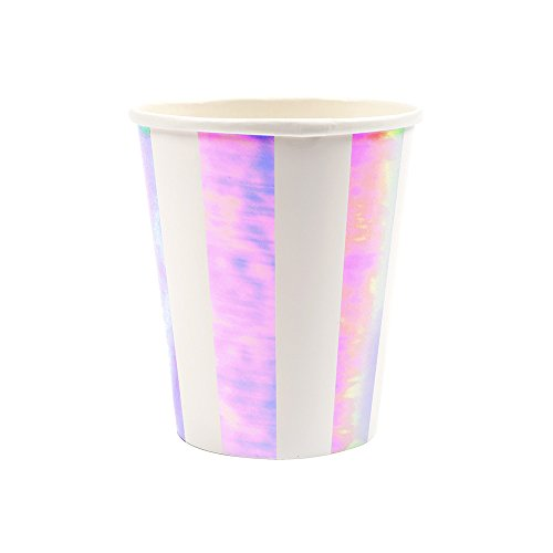 (Meri Meri Iridescent Fan Stripe Cups)