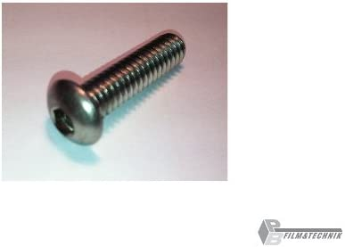 5x 1//4 25 mm tornillo de c/ámara alomado acero inoxidable A2