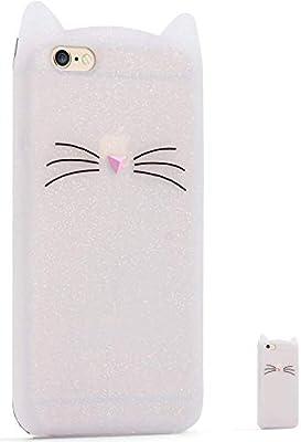 0383d0c1386 HopMore Gato Funda para iPhone 5S / SE / 5 Silicona Motivo 3D Carcasa  Divertidas Gato TPU Gel One Piece Ultrafina Slim Case Antigolpes Caso  Protección Cover ...