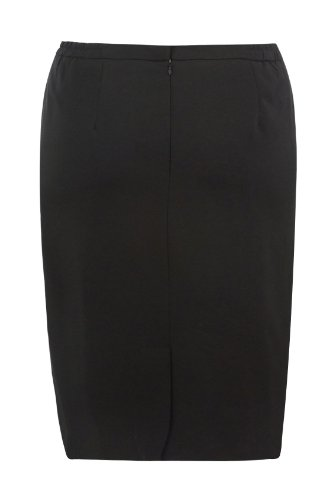 Yoursclothing Womens Plus Size Fully Lined Pencil Skirt With Zip Fastening And S Size Black (Fully Lined Pencil Skirt)