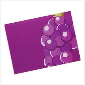 Luscious Grape Kitchen Counter Top Glass Cutting Board