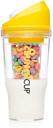 The CrunchCup Standard - A Portable Cereal Cup - No Spoon. No Bowl. It's Cereal On The
