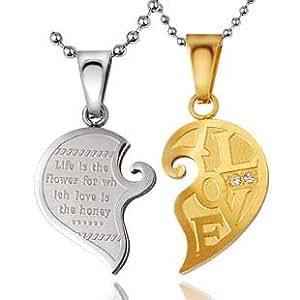 Personalized Couples Name Necklaces 316l Titanium Steel ...