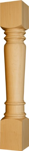 table pedestals in Knotty Pine - Dimensions: 34 1/2 x 5 inches -