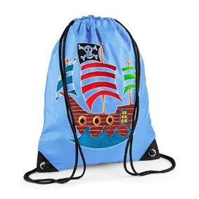 Boys Swim Bag Gym Blue PE Pirate