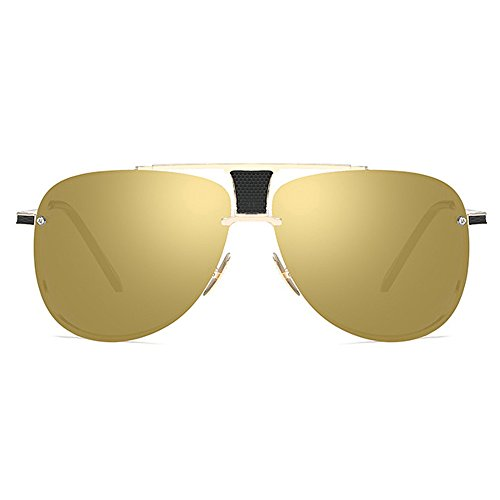 Designer Oversize Retro para Oro Eyewear Square Gafas de Classical hombres Male Marco Shaped Grande sol Oro UV400 TZZqSvz