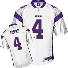 NFL Reebok Minnesota Vikings Brett Favre Youth Premier White Jersey (X-Large)