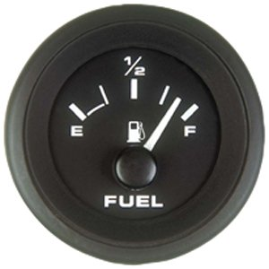 Sierra International 62718P Fuel Gauge - Black Premier Pro 2""