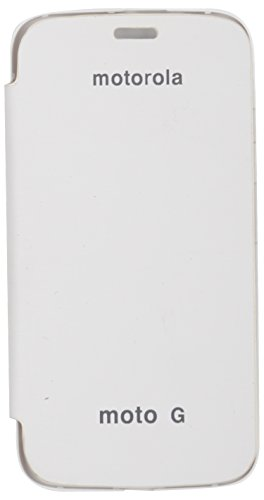 icandy™ synthetic leather Flip Cover for motorola moto g 1st gen   white