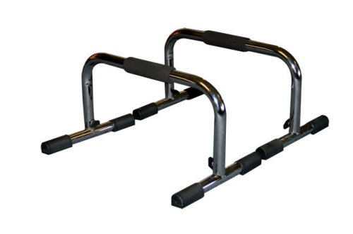 j/fit Tall 9″ Pro Push Up Bar Stand | Durable Metal Fitness Equipment and Padded Handles For Secure Grip   Non Skid...